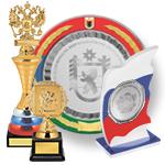 Призы c российской и региональной символикой
